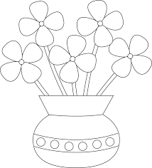 vase with flowers drawing at getdrawings