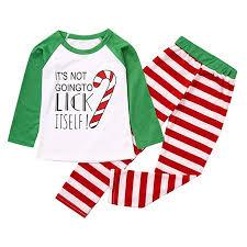 Matching Family Christmas Pajamas Set Soft Cotton Clothes