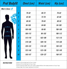 Club Clothing Bodyfit Size Charts South East London Cycle