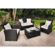 details about rattan garden furniture set 4 piece chairs sofa table outdoor patio wicker