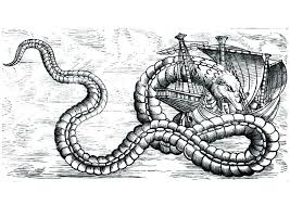 Sea Serpent Coloring Pages Sea Monster Coloring Pages Color Sea