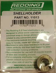 Redding Shell Holder Chart 11013 Redding 13 Shellholder 30 Luger 30 Mauser Brand New Free Ship