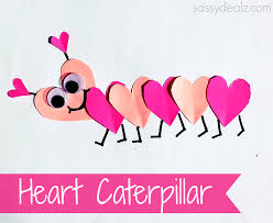Craft Valentines Day Heart Caterpillar Craft For Kids Crafty Morning