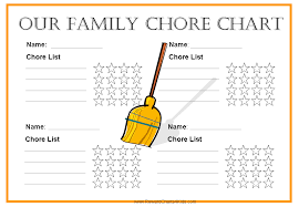 Printable Family Chore Chart Template Free Family Chore Chart