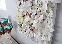 faux flower wall art tutorial