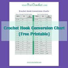 Steel Crochet Hook Conversion Chart Oui Crochet Crochet Hook Conversion Chart Free Printable
