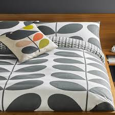 giant stem flannel duvet cover granite super king orla kiely