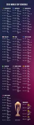 World Cup Fixture Chart Cricket World Cup 2019 Group Team Schedule Betting Odds