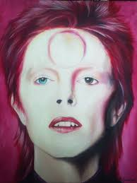 ziggy stardust portrait of david bowie painting by mel fioino