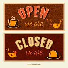 Closed Signs Template Open And Closed Signs Vector Free Download