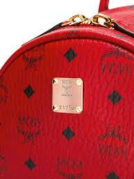Designer Mcm Meaning Mcm Belt Cheap Vs Real Mcm Logo Print Backpack Unisex Bags