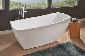 jacuzzi stella soaker tub makes a freestanding statement  jlc