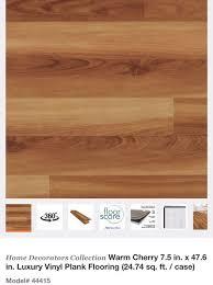 home decorators collection warm cherry luxury vinyl plank flooring for in glendale az offerup