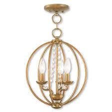 livex lighting arabella 3 light antique gold leaf convertible chandelier