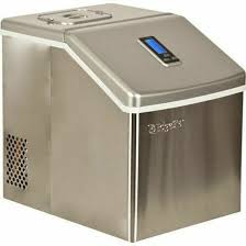 details about edgestar stainless steel portable clear ice maker countertop ice cube machine