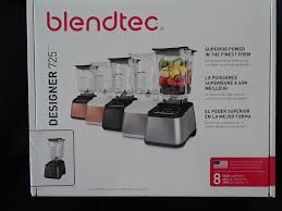 Blender Blendtec Designer 725 Designer 725 Blender Blendtec 3 8 Hp Ice Crushing Built In Timer Black Stainless