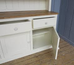 any size made reclaimed pine dresser with glass doors painted in little greene available to view