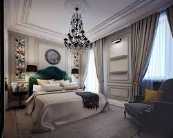 gorgeous neo classical apartment in gray beige home interior neoclassical bedroom