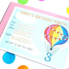 Personalised Birthday Invitations For Kids Personalized Kids Birthday Invitations Printed Birthday Invitations