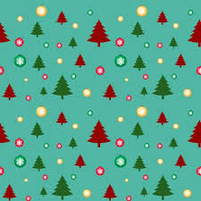 Seamless Background Template With Christmas Trees And