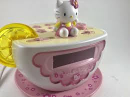 Hello Kitty Digital Am Fm Clock Radio With Night Light Hello Kitty Tea Cup Digital Alarm Clock Am Fm Radio And Night Light Kt2055 Works