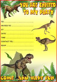free dinosaur party invitations dinosaur party invitations free