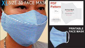 pdf 3d face mask pattern