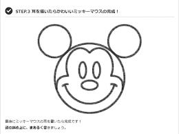 まるが成功の秘訣ミッキーマウスのイラストが簡単に描ける
