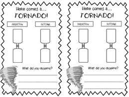 Freebie Tornado In A Bottle Response Sheet Tornado In A
