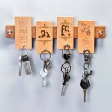 personalized wooden key holder gift