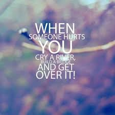 Quotes About Getting Over Someone Custom Quote Pictures When Someone Hurts You Cry A River Build A Bridge