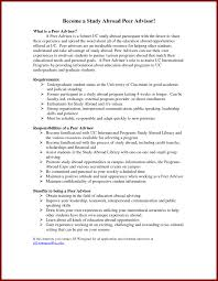 Study Abroad Advisor Resume Example Examples On Horsh Beirut