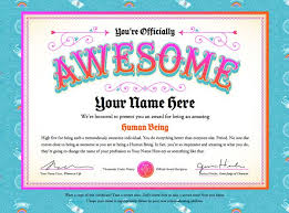Certificate Of Awesomeness Template Create Certificates Of Awesomeness For Students A Friday High
