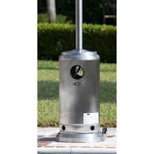 output stainless patio heater: fire sense stainless steel prime round patio heater