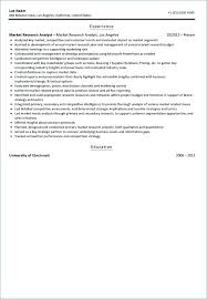 Market Research Analyst Resume Sample Market Research Resume Sample ...