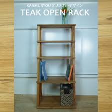 BALI teak open rack Bookshelf fashion solid shelf storage wood stylish  decoration shelf display rack rack