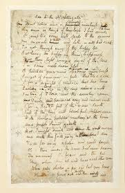 literature and the visual arts the fitzwilliam museum page from the autograph manuscript of ode to the nightingale by john keats