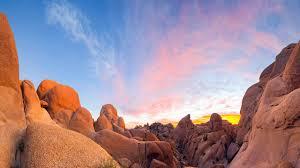 Granite boulders Joshua Tree National ...