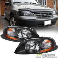 ford windstar headlights black 1999 2003 ford windstar replacement headlights headlamps pair left right fits ford windstar