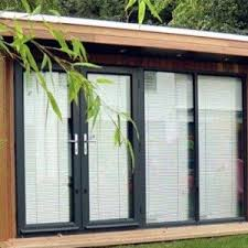 wooden garden shed home office. garden shed home office with flat roof and glass doors shutters outdoor wooden