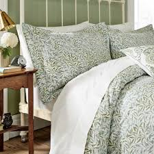 willow bough head of bed willow bough oxford pillowcase willow bough double duvet cover set sage green william morris