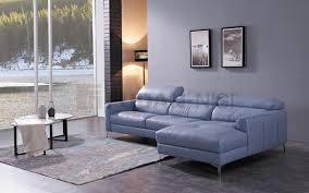 niagara blue leather sectional sofa with duck feather cushionetal feet