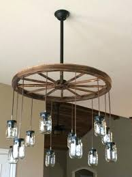 wheel chandelier wagon wheel chandelier wagon wheel mason jar chandelier for