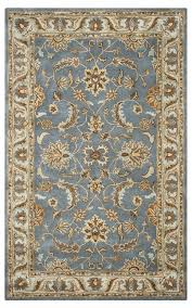 rizzy home volare wool rectangle area rug 3 x 5 blue brown tan light teal