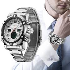 Luxury <b>Men Army Military</b> Watch <b>Men's</b> Quartz LED Digital <b>Clock</b> Full ...