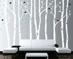 birch tree wall art image of white metal  on white birch tree wall art with birch tree wall art nursery decals white trees decal large mural