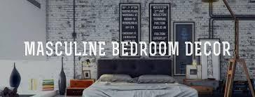masculine bedrooms mens bedroom wall decor ideas
