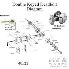 deadbolt 2 inch backset heavy duty double key choose finish