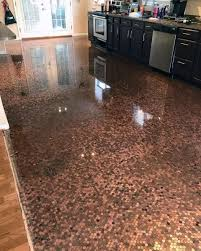 Penny kitchen floor Cost Penny Kitchen Penny Floor Designs Next Luxury Top 60 Best Penny Floor Design Ideas Copper Coin Flooring