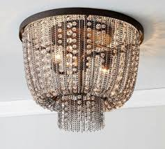 amazing flush mount crystal anise crystal flushmount pottery barn inside pottery barn flush mount chandelier